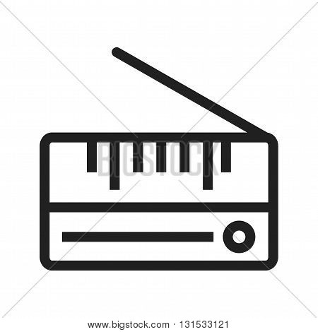 Radio, old, antique icon vector image. Can also be used for music. Suitable for web apps, mobile apps and print media.