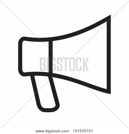 Megaphone, speaker, hand icon vector image. Can also be used for music. Suitable for web apps, mobile apps and print media.
