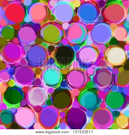 Background with row of colorfull grunge circles and rings