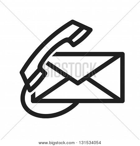 Email, call, message icon vector image. Can also be used for customer services. Suitable for use on web apps, mobile apps and print media.