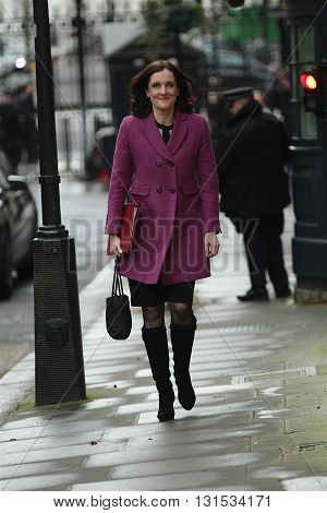 LONDON, UK - FEBRUARY 2, 2016: Theresa Villiers MP seen at Downing Street