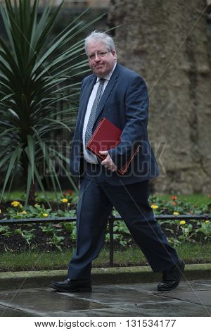 LONDON, UK - FEBRUARY 2, 2016: Patrick McLoughlin MP seen at Downing Street
