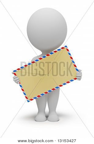 3D Small People - Envelope
