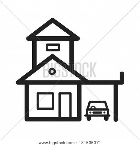 Garage, parking, house icon vector image.Can also be used for home. Suitable for mobile apps, web apps and print media.