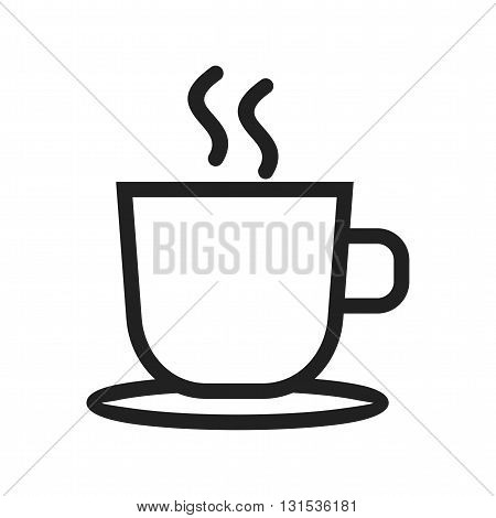 Tea, cup, hot icon vector image. Can also be used for shopping. Suitable for use on web apps, mobile apps and print media.