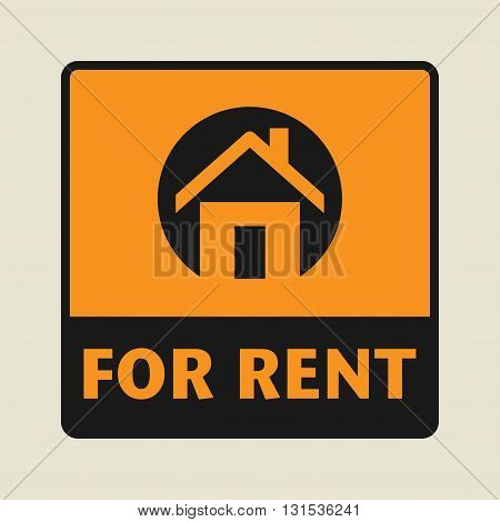House For Rent icon or sign, vector illustration