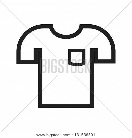 Shirt, fashion, sport icon vector image. Can also be used for shopping. Suitable for use on web apps, mobile apps and print media.