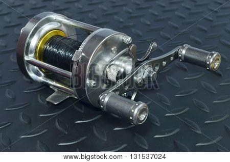 Reel  keep fishing line equipment used in fishing.
