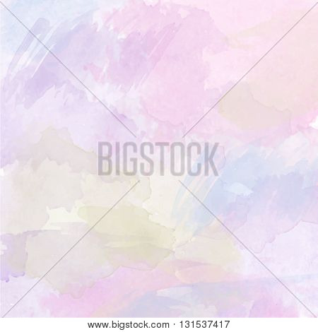 Abstract vector hand-drawn watercolor background. Colourful template. There is blank place for your text. EPS 10