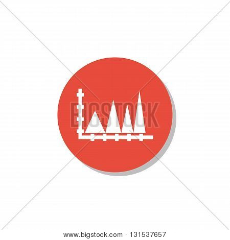 Triangle Icon In Vector Format. Premium Quality Triangle Symbol. Web Graphic Triangle Sign On Red Ci