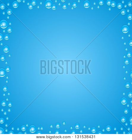 Vector abstract background with air bubbles in the water.