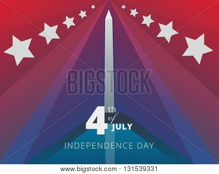 Independence day of the United States of America banner 4-th of JulyHoliday Background Design