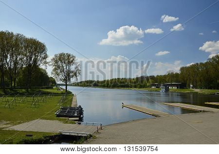 The Rowing Lake In The Amsterdam Forest
