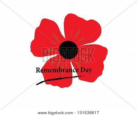 poppy flower as a symbol of remembrance. Day of Remembrance. vector