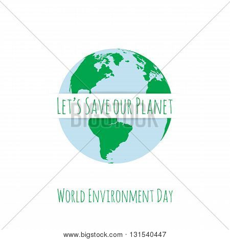 World Environment Day festive Concept Template. Vector Illustration