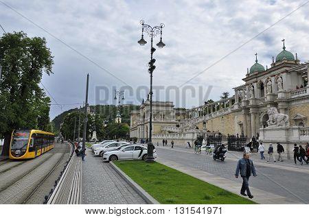 The Lanchid Street With The Castle Garden Bazaar