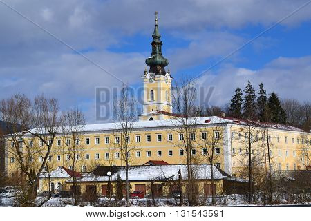 monastery Schlaegl in Upper Austria in the winter