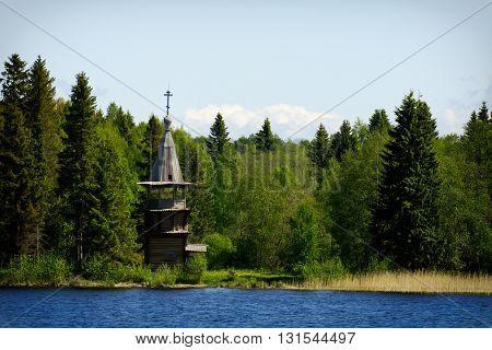 Chapel of the Virgin in the village Korba, Kizhi island, Karelia, Russia