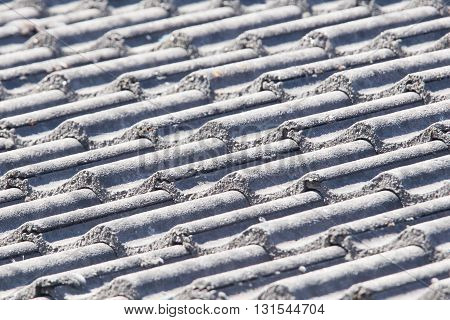 Background Perspective Of Grey Roof Tiles