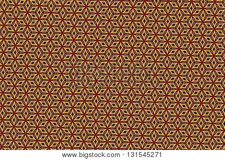 Yellow red and black vintage pattern background