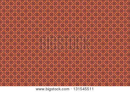 Orange and brown color vintage geometry pattern background