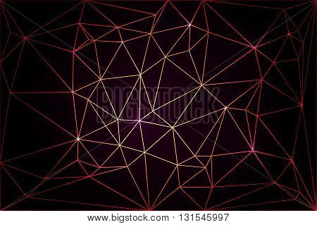 Poly background with colored cobwebs on a black background for your design