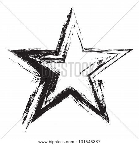 Grunge frame star. Vector element for design flyers brochures invitations and your design ideas