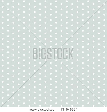 Seamless geometric modern pattern. Fine light blue ornament with white round elements