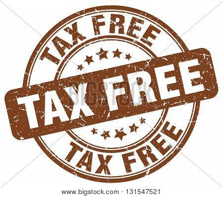 Tax Free Brown Grunge Round Vintage Rubber Stamp.tax Free Stamp.tax Free Round Stamp.tax Free Grunge