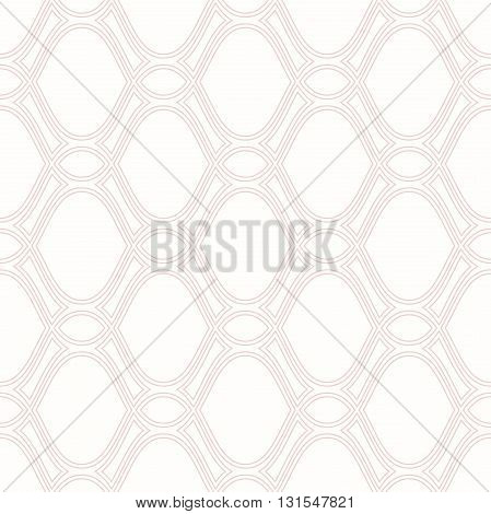 Seamless ornament. Modern geometric pattern with pink repeating wavy lines