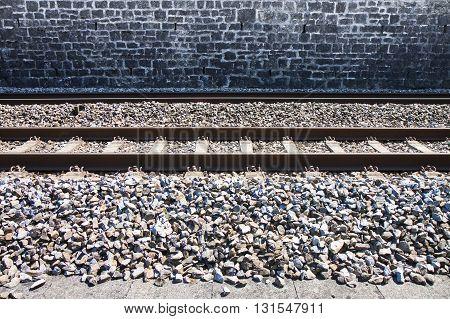 Detail of a Swiss railway (Switzerland - Europe)