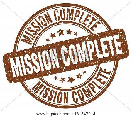 mission complete brown grunge round vintage rubber stamp.mission complete stamp.mission complete round stamp.mission complete grunge stamp.mission complete.mission complete vintage stamp.