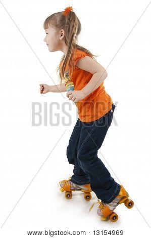 The Little Girl On Roller Skates