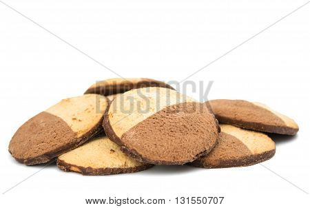 biscuits snack cookies isolated on white background