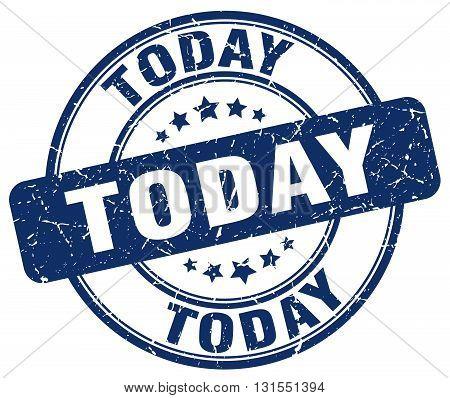 Today Blue Grunge Round Vintage Rubber Stamp.today Stamp.today Round Stamp.today Grunge Stamp.today.