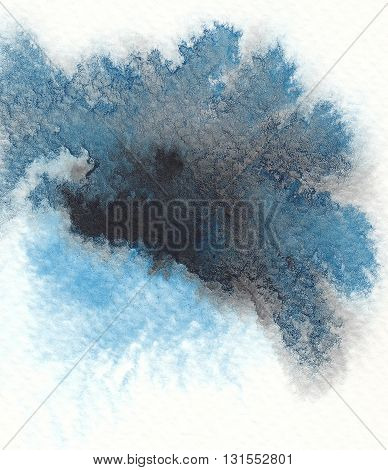 dark tones blue black abstract watercolor background