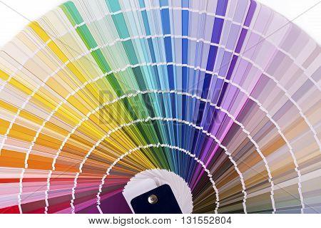 color palette catalog with design paint samples