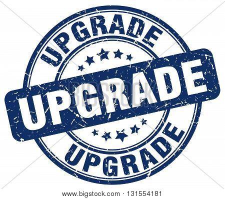 Upgrade Blue Grunge Round Vintage Rubber Stamp.upgrade Stamp.upgrade Round Stamp.upgrade Grunge Stam