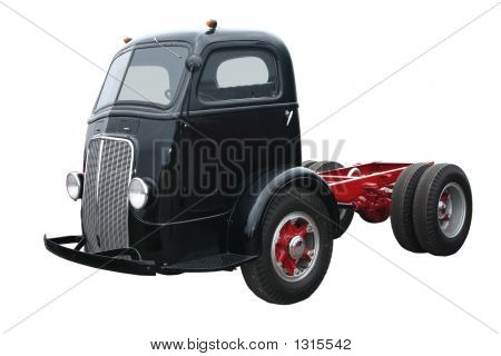 Táxi preto velho sobre