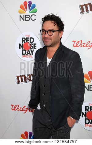 LOS ANGELES - MAY 26:  Johnny Galecki at the Red Nose Day 2016 Special at Universal Studios on May 26, 2016 in Los Angeles, CA