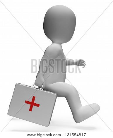 First Aid Shows General Practitioner And Accident 3D Rendering