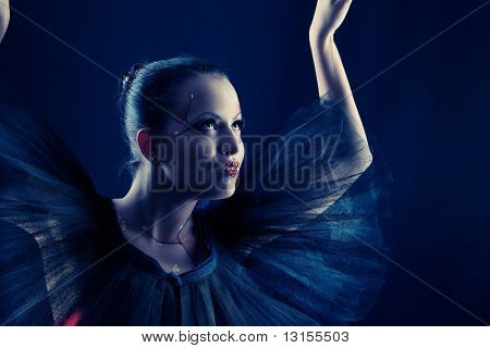 Shot of an expressive ballet dancer.