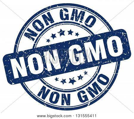 non gmo blue grunge round vintage rubber stamp.non gmo stamp.non gmo round stamp.non gmo grunge stamp.non gmo.non gmo vintage stamp.