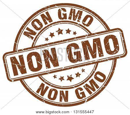non gmo brown grunge round vintage rubber stamp.non gmo stamp.non gmo round stamp.non gmo grunge stamp.non gmo.non gmo vintage stamp.
