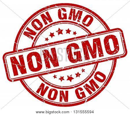 non gmo red grunge round vintage rubber stamp.non gmo stamp.non gmo round stamp.non gmo grunge stamp.non gmo.non gmo vintage stamp.