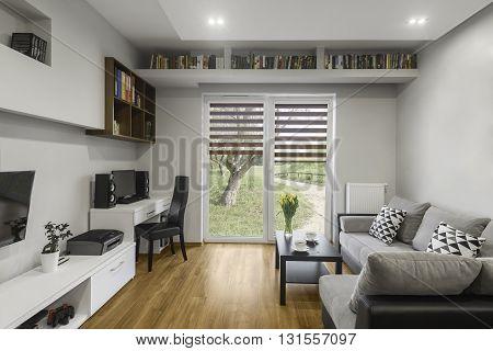 Bookshelf Above Window