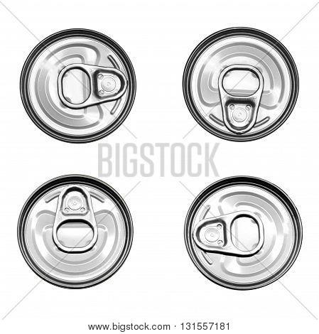 aluminum metallic tin can food containers set
