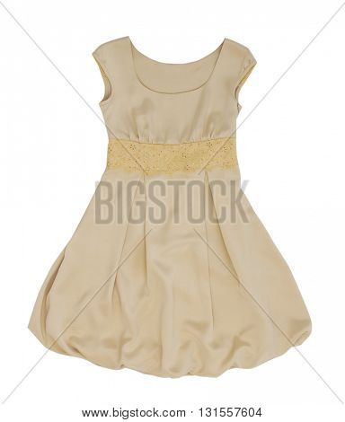 yellow dress isolated on white background