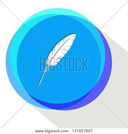 feather. Internet template. Vector icon.