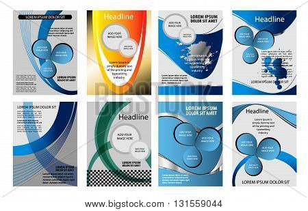 Blue background graphic curve line for text and message modern web design